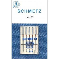 Schmetz super stretch. In diktes 75 of 90. Pakje 5 stuks.