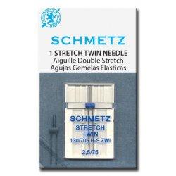 Schmetz stretch-tweeling. Keus uit 25-75 en 40-75