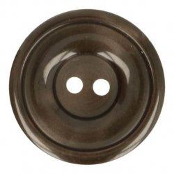 Knoop Bottoni Italiani 4348 881 bruin keuze uit 6 groottes