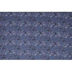 Jersey bedrukt met palmbomen 11210 blauw 003