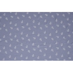 Baby Katoen met Veer 11253 blauw 003