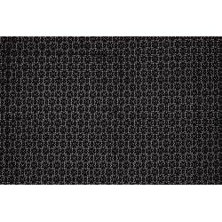 Katoen Nylon met bloemen 11605 zwart 069