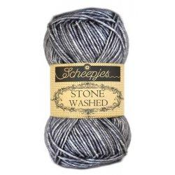 Stone Washed. Pendikte 3-3,5 mm. Kleur 802. Smokey Quartz. Scheepjeswol.