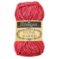 Stone Washed. Pendikte 3-3,5 mm. Kleur 807. Red Jasper. Scheepjeswol.