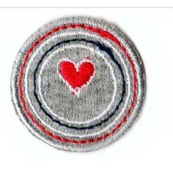 Applicatie Crikel met klein rood hart
