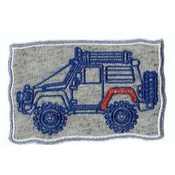 Applicatie Jeep vanaf de zijkant
