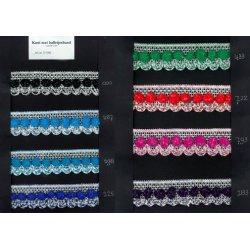 Kant met Balletjesband 35 mm in 8 kleuren