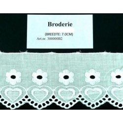 B-2Broderie wit - 60mm breed