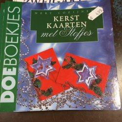 Boekje Kerstkaarten met Stofjes