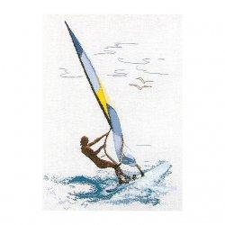 Thea G.Surfen op Aida of Linnen