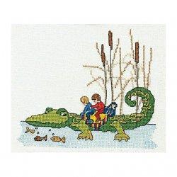 Thea G.Krokodil op Aida of Linnen