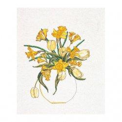 Thea G.Tulpen/Narcissen op aida of linnen