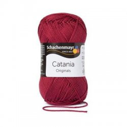 Catania 50 gr Schachenmayr Kleur 425 Burgund