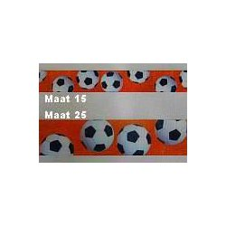 Lint met Voetbalprint 15 of 15 mm