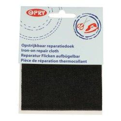 Opry Reparatiedoek jeans opstrijkbaar 10x40cm zwart